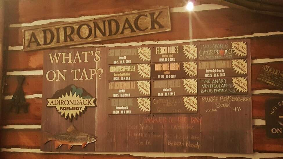 Adirondack Brewery Opened: 1999Location: Lake GeorgeBeers include: Bear Naked Ale, Easy Hike Session IPA, Iroquois Pale Ale