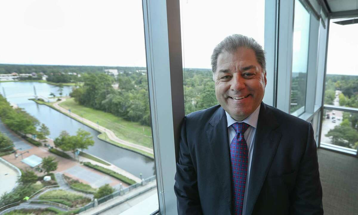 Newfield Exploration CEO, Lee Boothby, poses for a photo Tuesday, Oct. 10, 2017, in The Woodlands ( Steve Gonzales / Houston Chronicle )