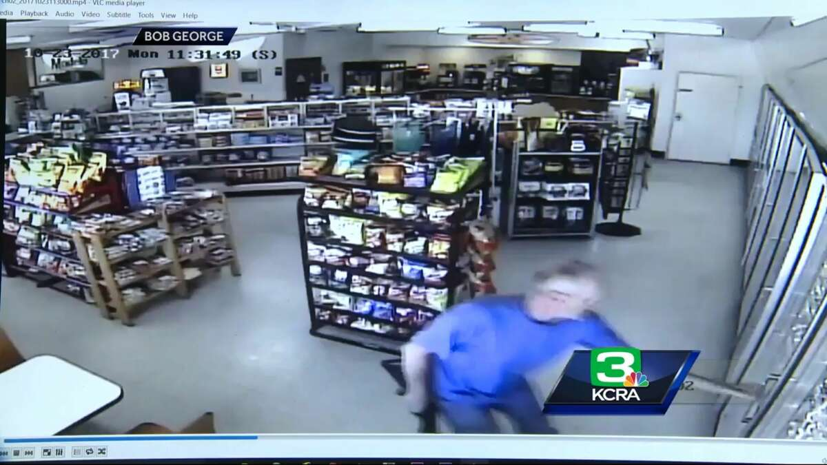 Authorities say Alan Ashmore  shot and killed two people and injured two others during a shooting spree in Clearlake Oaks on Monday, Oct. 23, 2007. Video shows Ashmore entering this Chevron station before firing a rifle at a man who ran out of the store, missing him