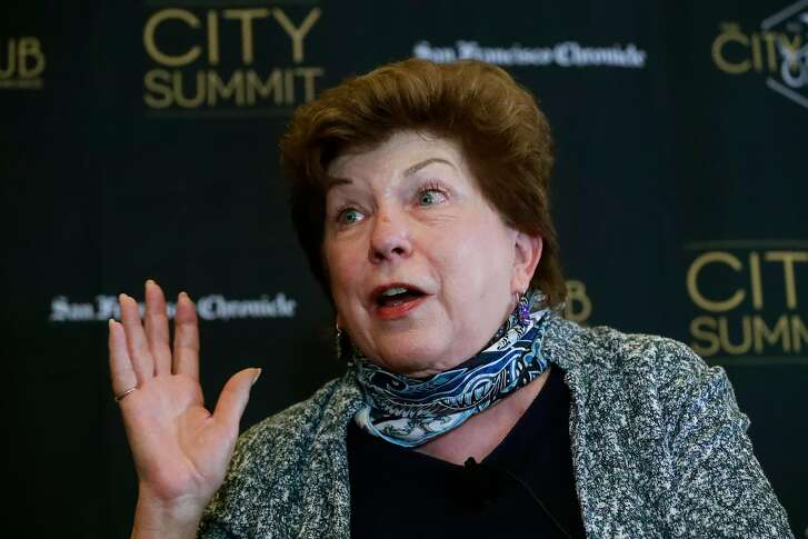 Delaine Eastin makes a point. The San Francisco Chronicle and the City Club of San Francisco  host a City Summit forum for California democratic gubernatorial candidates, John Chiang, California State Treasurer, Antonio Villaraigosa, former Mayor of Los Angeles, Delaine Eastin, former California Superintendent of Public Instruction and Gavin Newsom, Lieutenant Governor of California in San Francisco, Ca. on Tuesday October 24, 2017.