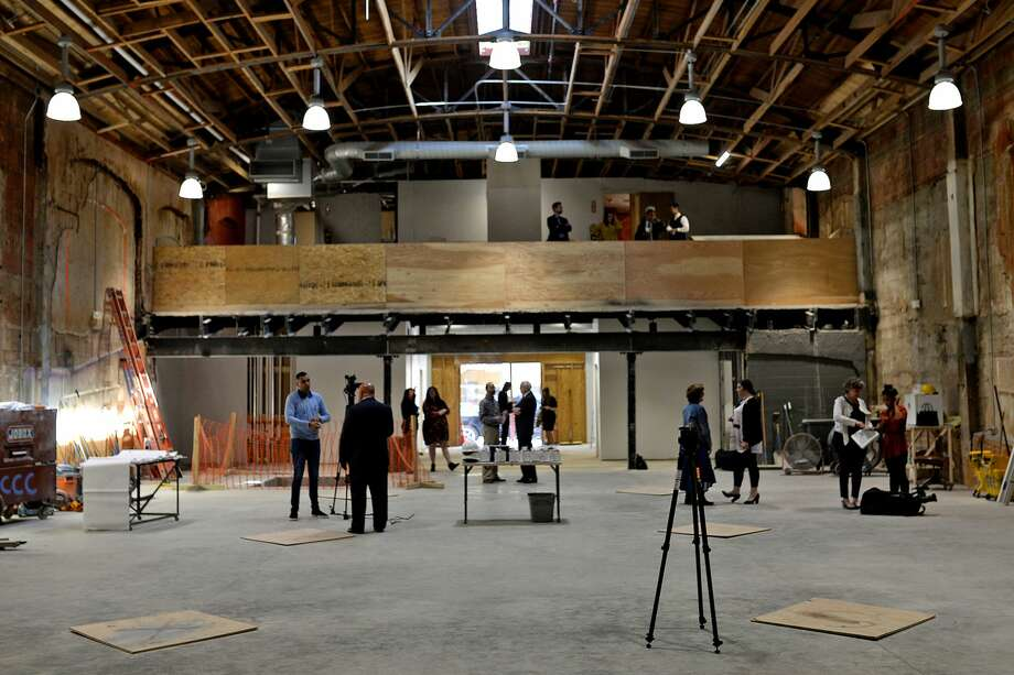 Midland city council members tour the new PBS studio under construction Oct. 24, 2017. James Durbin/Reporter-Telegram Photo: James Durbin