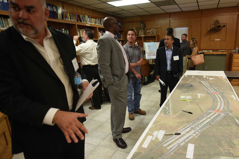Members of the public were invited to attend a Texas Department of Transportation meeting to discuss a Loop 250 overpass project involving County Road 1150 and County Road 60, Oct 24, 2017, at Sibley Nature Center. James Durbin/Reporter-Telegram Photo: James Durbin