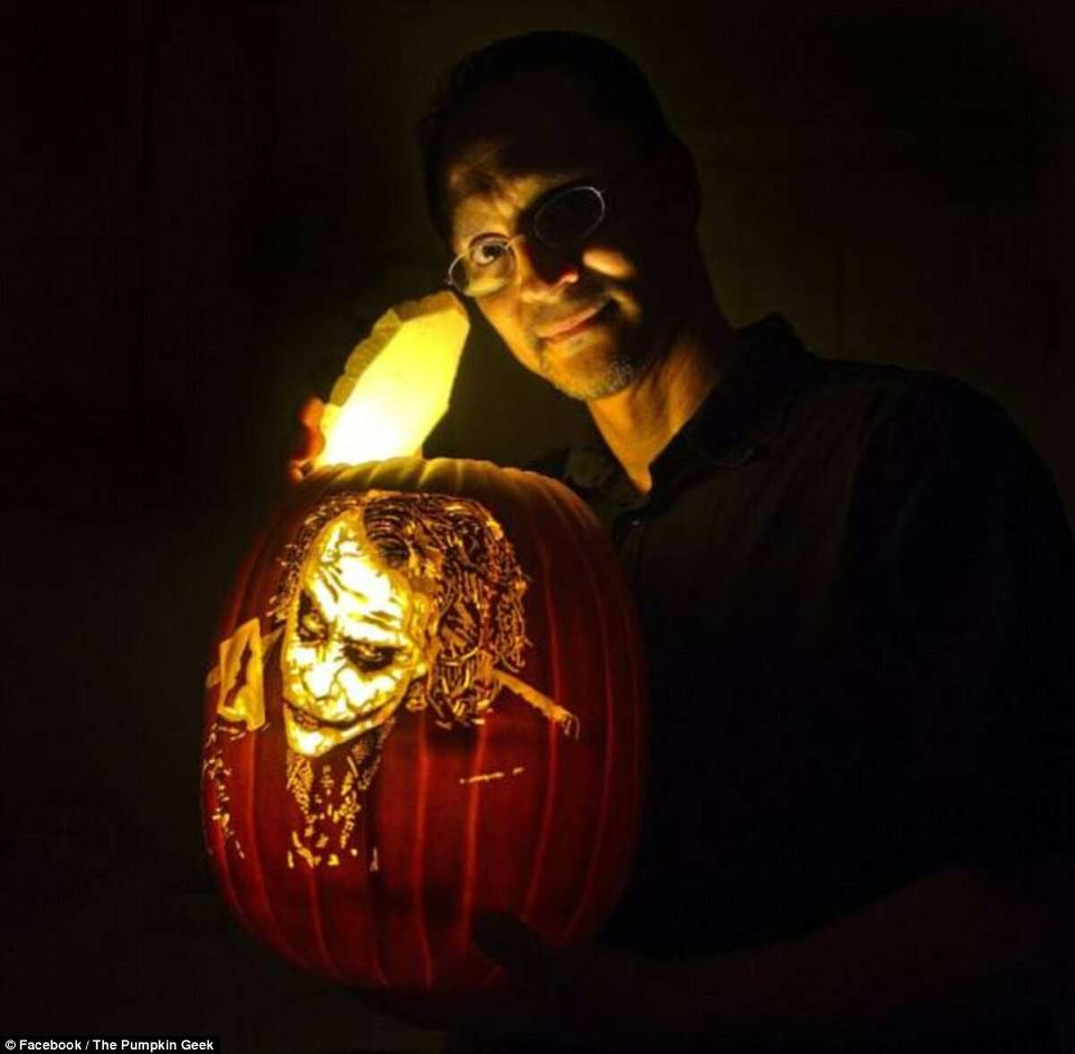 Sacramento artist Alex Wer quit his day job as a mortgage broker to carve artificial pumpkins full-time. His creations range from celebrities to Star Wars battle scenes.