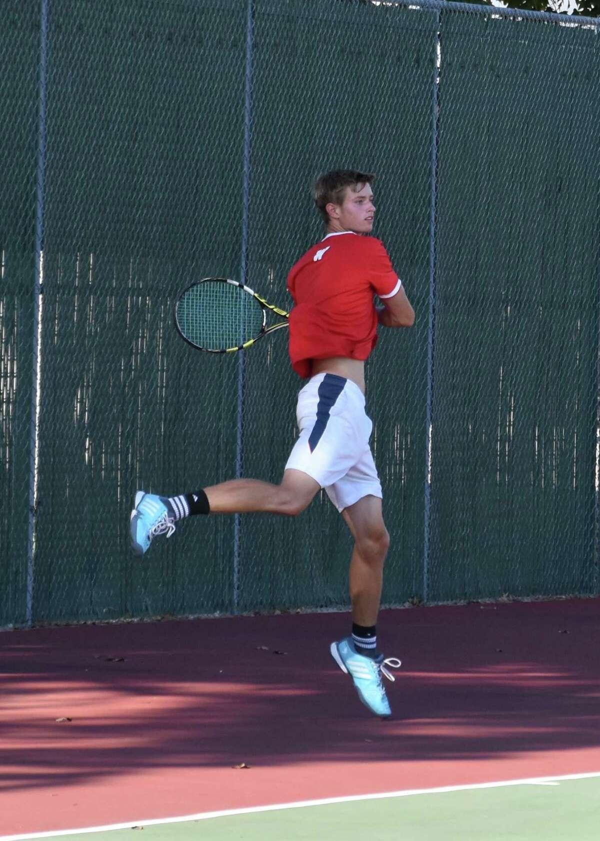 The Woodlands tennis player Hunter Bajoit.