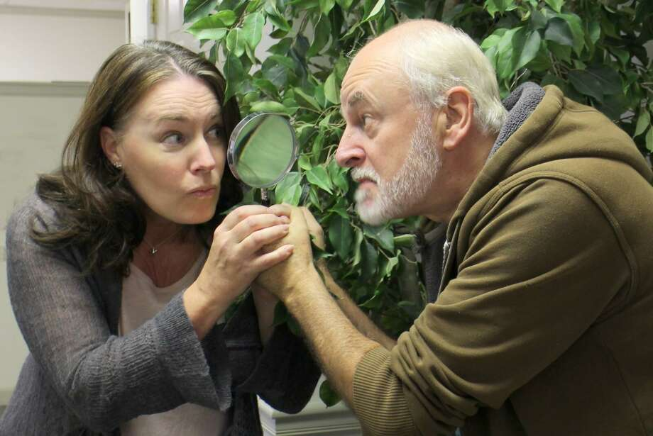 """Victoria Bundonis and Craig McDonald in a scene from """"The Game's Afoot."""" Photo: Photo By Anne Hudson / Not For Resale"""