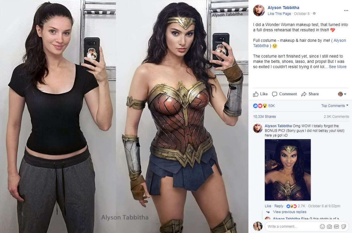 Cosplayer Alyson Tabbitha has taken social media by storm with her incredibly accurate and elaborate cosplay looks. Photo: Alyson Tabbitha Facebook