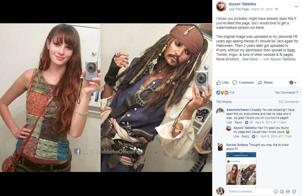 Cosplayer Alyson Tabbitha has taken social media by storm with her incredibly accurate and elaborate cosplay looks. Photo:Alyson Tabbitha Facebook