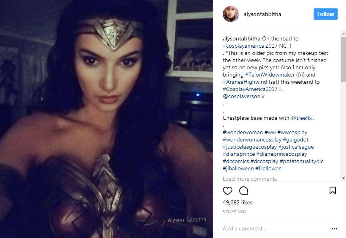 Cosplayer Alyson Tabbitha has taken social media by storm with her incredibly accurate and elaborate cosplay looks. Photo: Alyson Tabbitha Instagram