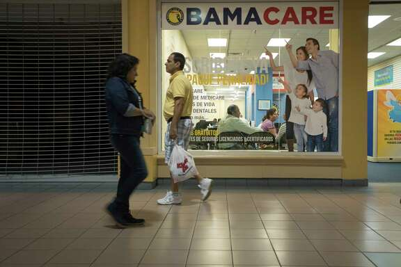 FILE — An insurance agency in Miami, Nov. 16, 2016. President Trump on Wednesday backed away from his endorsement of a bipartisan Senate proposal to stabilize health insurance markets, throwing the legislative effort into doubt even as the chief architect of the deal predicted that it would become law before the end of the year. (Angel Valentin/The New York Times)