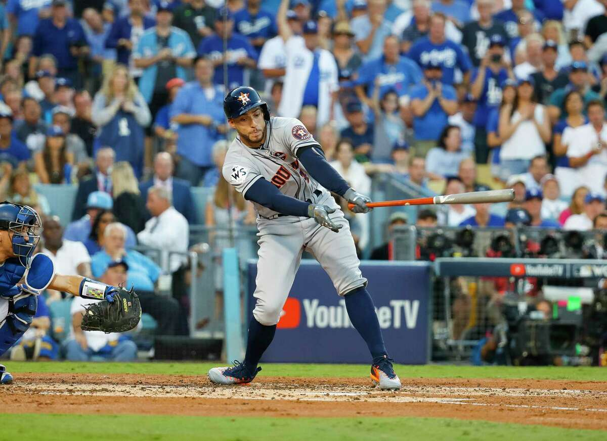 George Springer's first World Series outing was not one the Astros' leadoff hitter will fondly remember after striking out in all four at-bats Tuesday night.