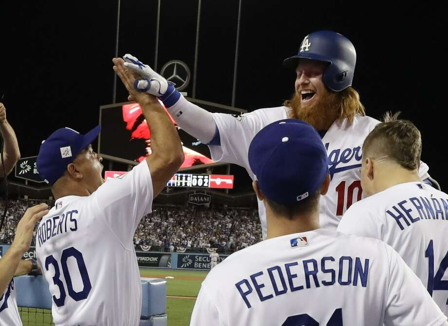 quality design b14e4 6ca8d Chris Taylor, Justin Turner lead Dodgers over Astros in ...