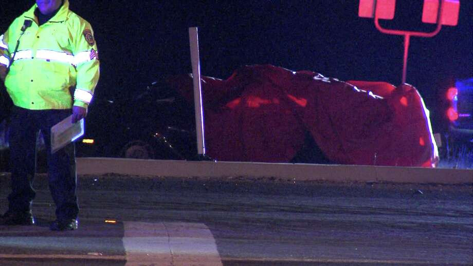 Bexar County Sheriff's Office deputies said the driver lost control of his vehicle around 7:45 p.m. before he ran the red light near Loop 1604 and Farm-to-Market Road 1346. Photo: Ken Branca