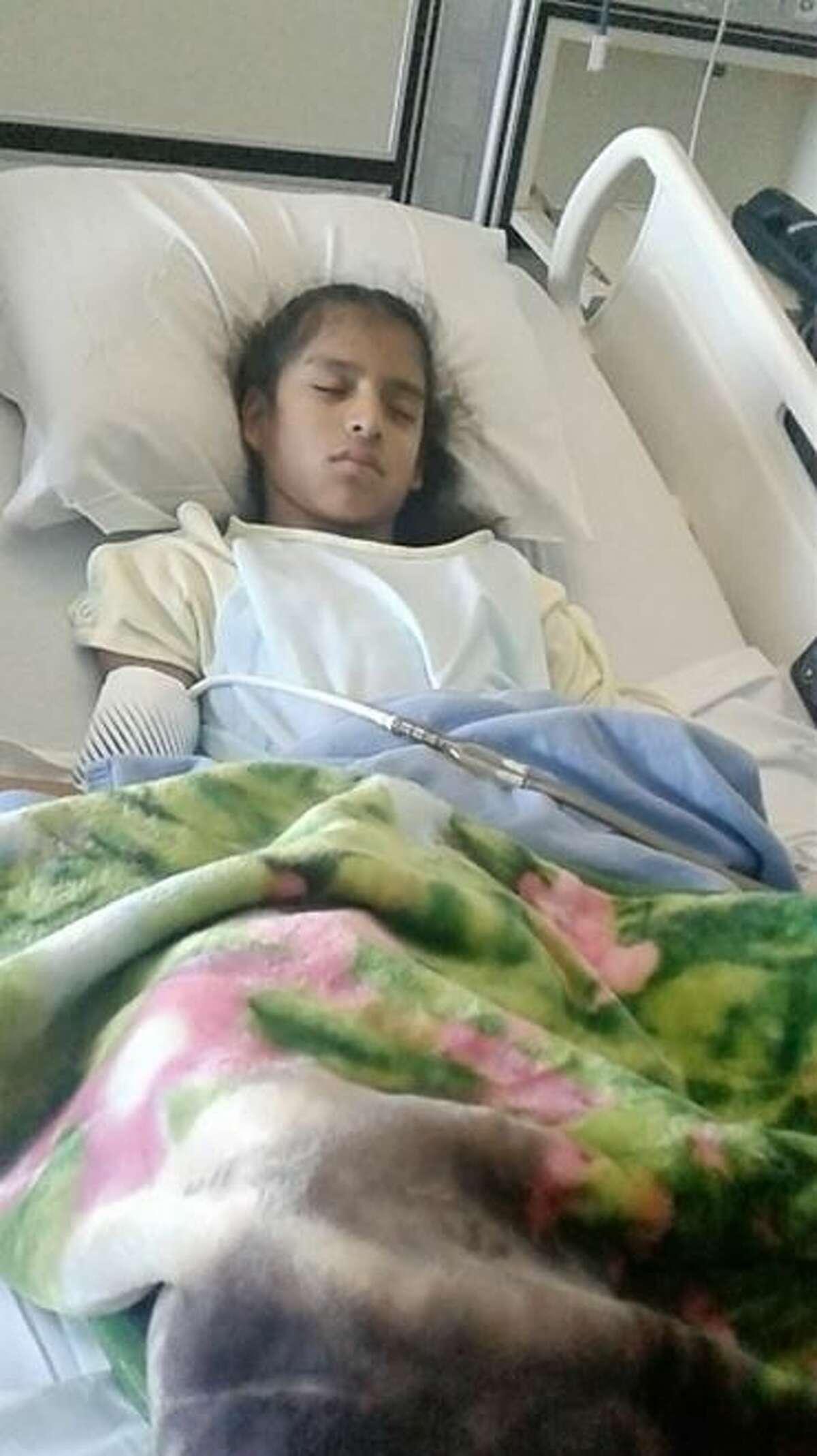 Rosemarie Hernandez, 10, underwent gall bladder surgery in Corpus Christi.