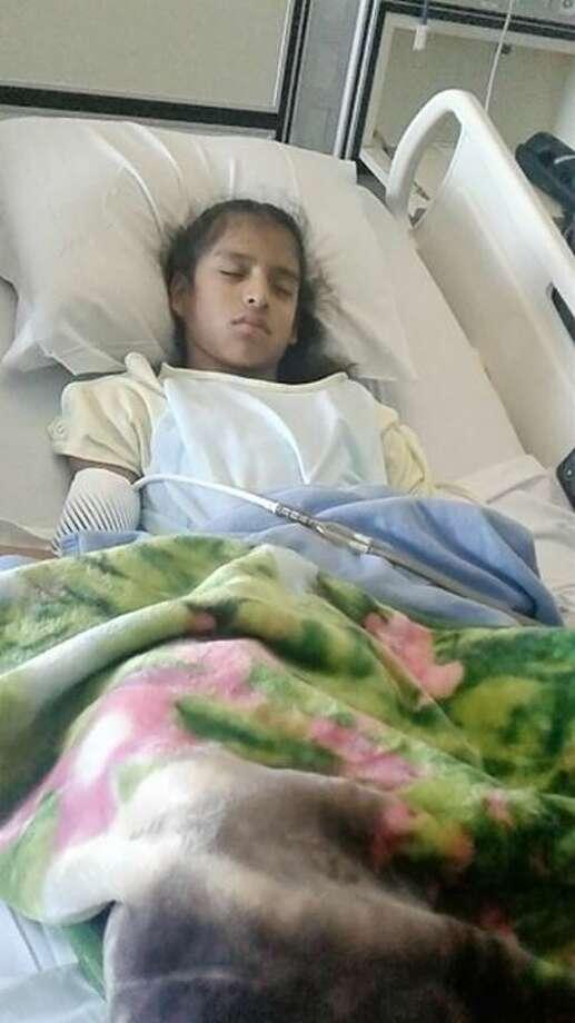 Rosemarie Hernandez, 10, underwent gall bladder surgery in Corpus Christi. Photo: Courtesy