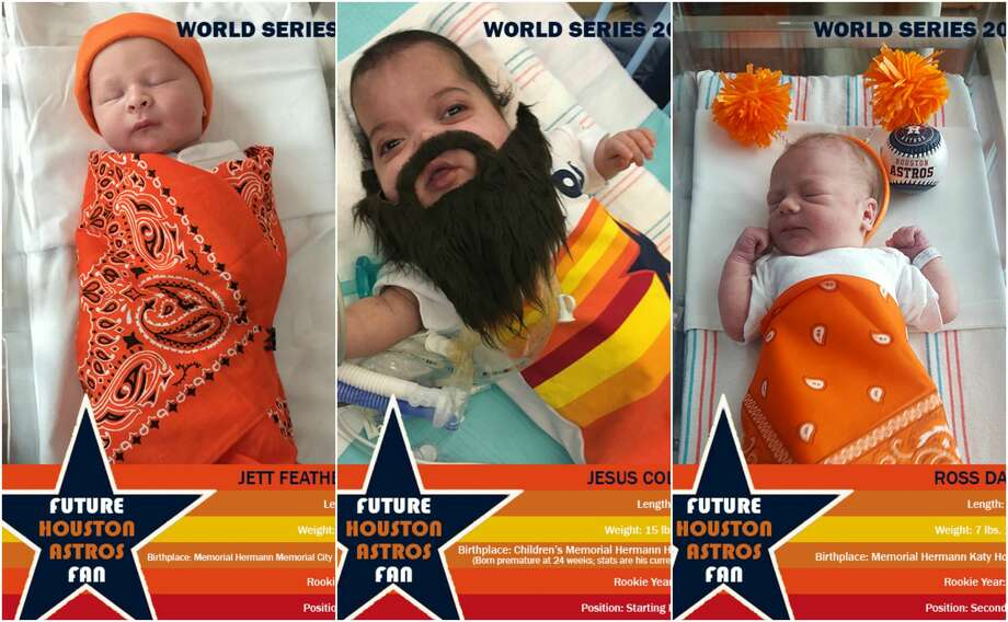 This week babies born at Memorial Hermann hospitals across the Greater Houston area got into the Houston Astros spirit. The hospital system made baseball cards for some of the team's newest little fans.See more photos of Houston's newest Astros fans... Photo: Memorial Hermann Hospital