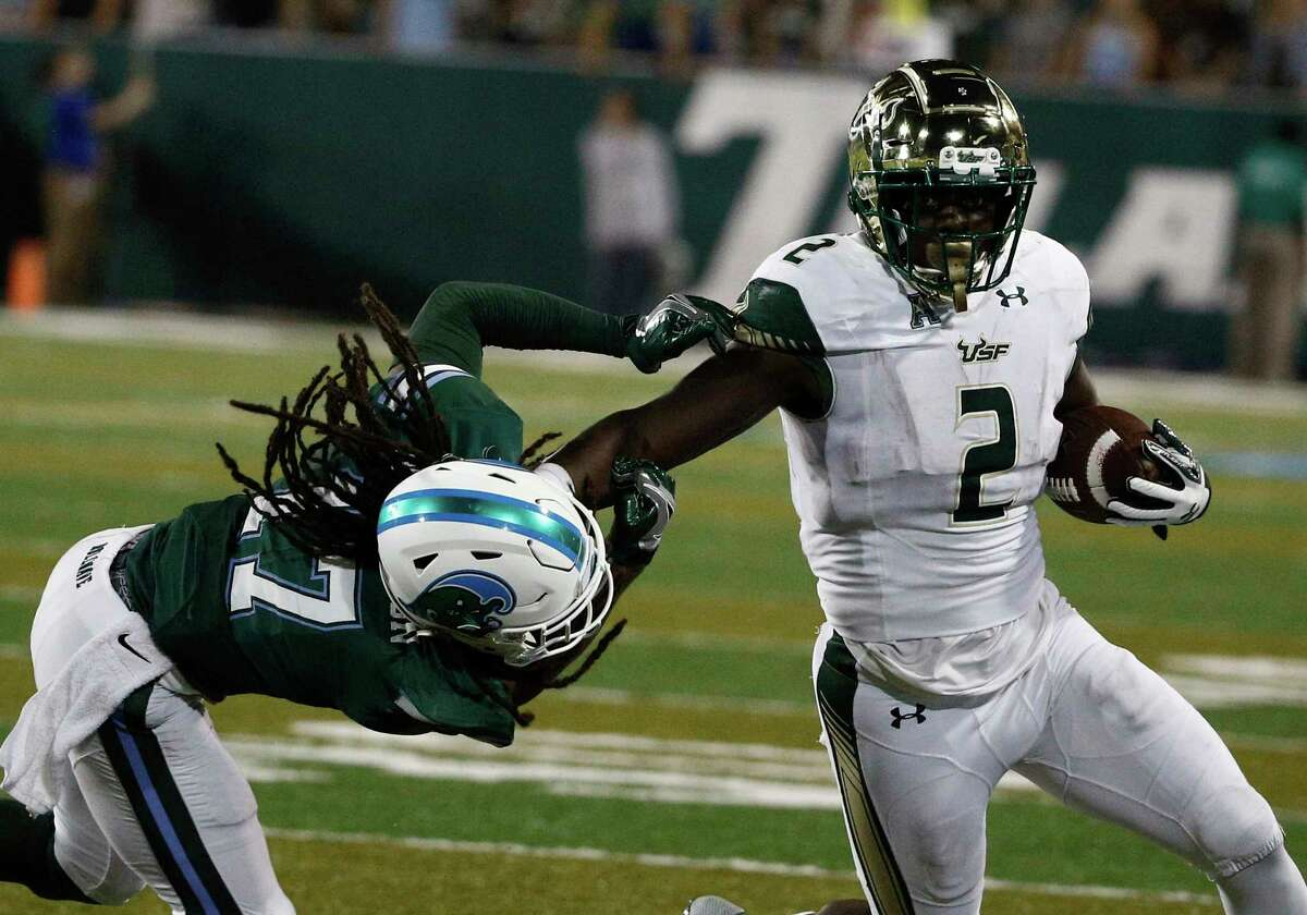 AAC POWER RANKINGS: WEEK 8 1. USF (7-0, 4-0 AAC) The Bulls appeared on pace for their fourth consecutive win of 30 or more points Saturday at Tulane, but an overwhelming performance regressed into an overconfident one. In a glaring defensive lapse, the Bulls watched the Green Wave score three consecutive touchdowns and block a field goal in a 34-28 USF victory. Presumably, the close call also will serve as a wake-up one: USF faces its toughest test yet Saturday at home against Houston. - Joey Knight, Tampa Bay Times
