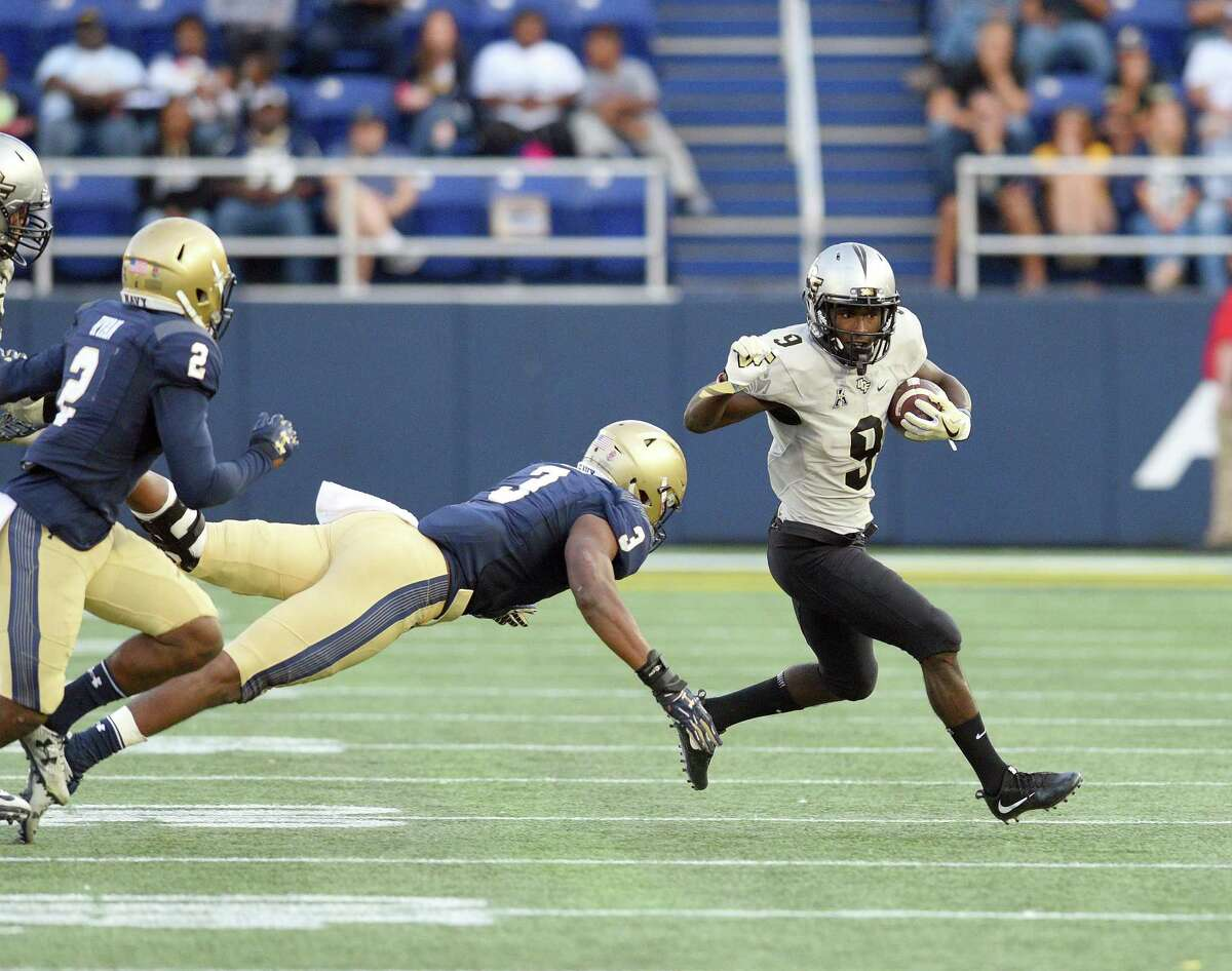 AAC POWER RANKINGS: WEEK 8 2. UCF (6-0, 4-0 AAC) Adrian Killins rushed for a career-high 122 yards including a 79-yard touchdown run in the third quarter that helped UCF survive one of its biggest challenges to date as the Knights outlasted Navy 31-21 Saturday for the program's first-ever 6-0 start to a season. Redshirt freshman cornerback Brandon Moore was a one-man wrecking crew on defense with a forced fumble and fumble recovery along with an interception that sealed the win for the Knights. - Matt Murschel, Orlando Sentinel