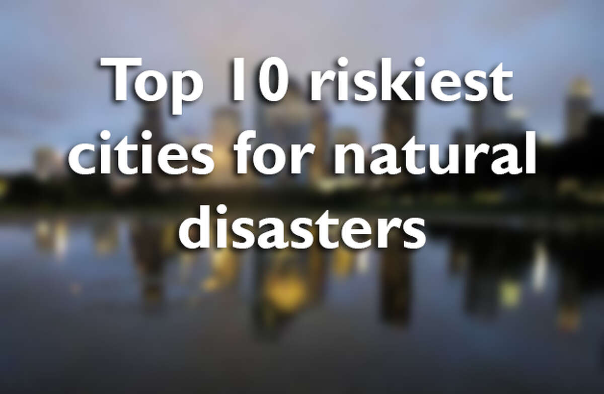 Swipe through to see the top 10 riskiest places to live in the U.S. when it comes to natural disasters.