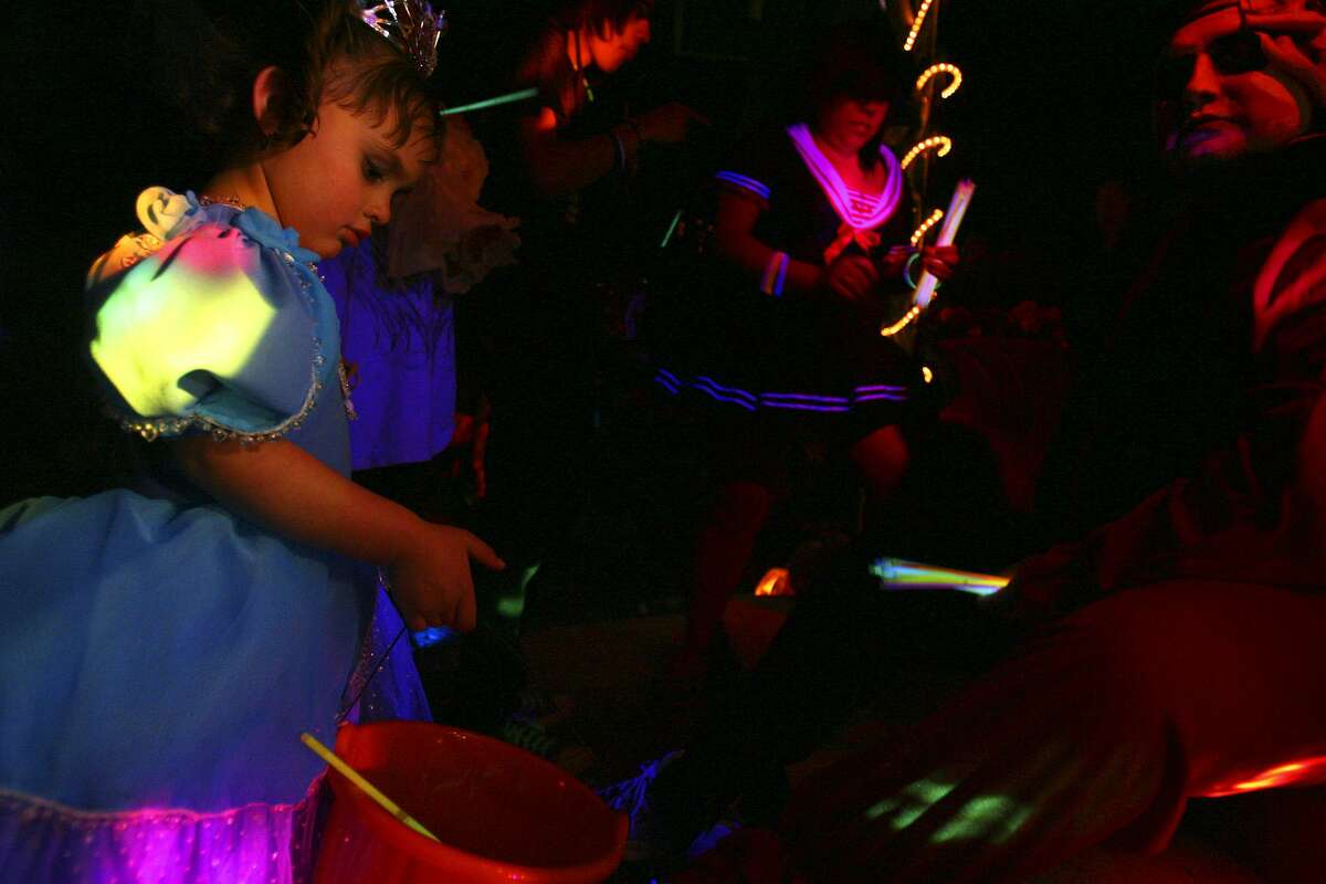 The Connecticut state dental association is recommending that homeowners hand out non-candy items, such as glow sticks, this Halloween. Jennifer Whitney/ jwhitney@express-news.net