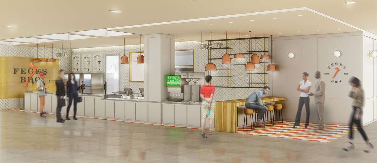 A rendering of Feges BBQ, coming in early 2018 to Greenway Plaza