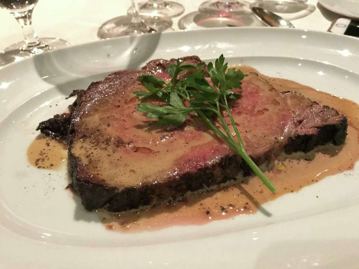 Dry aged USDA Prime rib with sauce Bearnaise will be the highlight of the Prime Room, a new intimate dining room at chef Robert Del Grande's Cafe Annie which is changing its name to Cafe Annie: Wood Grilled Steaks and Oyster Bar.