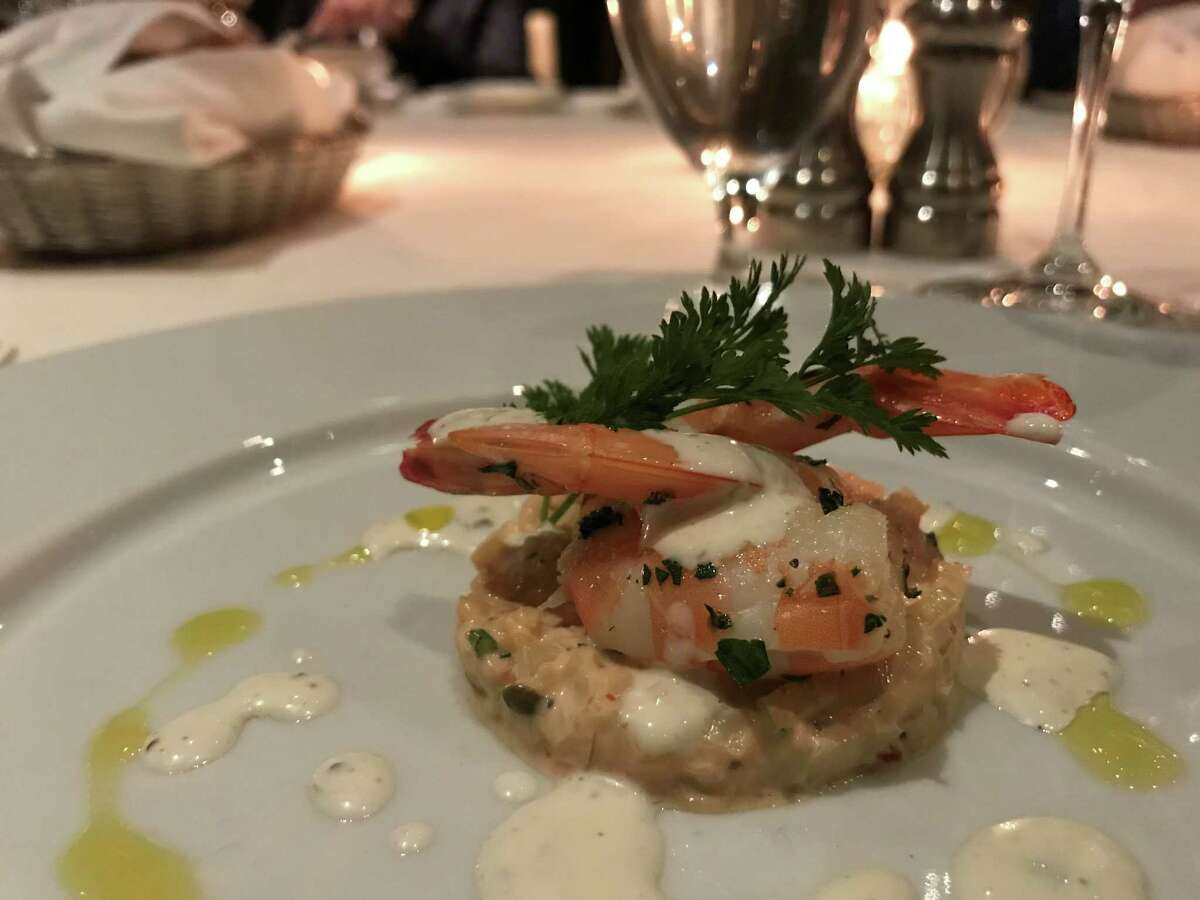 Gulf shrimp remoulade will be served on the initial menu of the Prime Room, a new intimate dining room at chef Robert Del Grande's Cafe Annie which is changing its name to Cafe Annie: Wood Grilled Steaks and Oyster Bar.