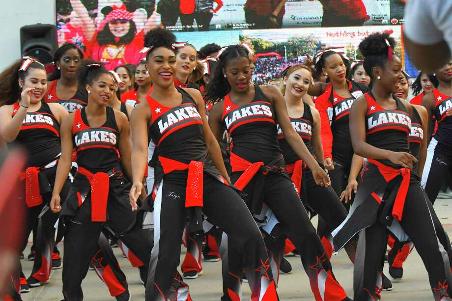 The Cypress Lakes High School girls dance team Sterling Stars entertained the crowd at the annual American Heart Association's heart walk Oct. 21. The event raised funds and awareness to combat heart disease and stroke, the leading causes of death in the United States. Funds raised will support heart disease and stroke research, health care quality improvement, advocacy, prevention and education. Photo: Tony Gaines/ HCN, Photographer