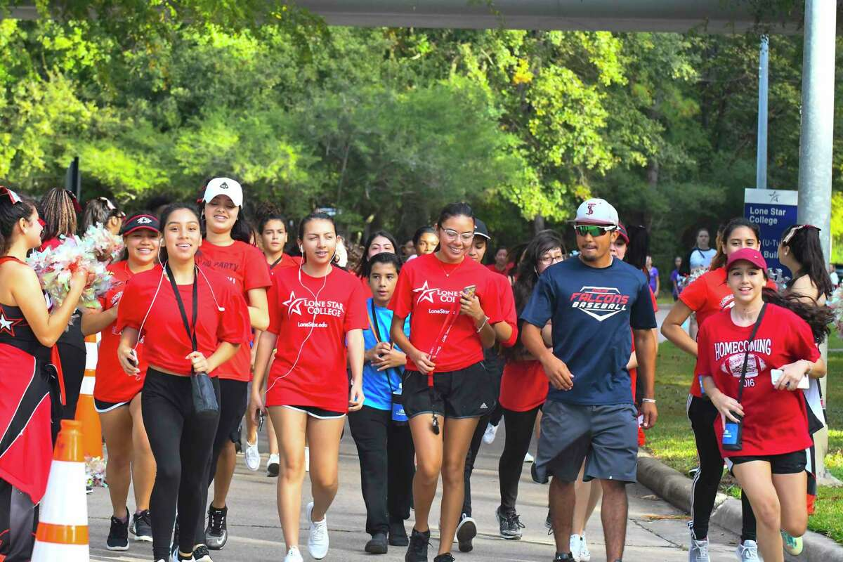 Lone Star College-University Park hosted the annual American Heart Association's heart walk Oct. 21. The event raised funds and awareness to combat heart disease and stroke, the leading causes of death in the United States. Funds raised will support heart disease and stroke research, health care quality improvement, advocacy, prevention and education.