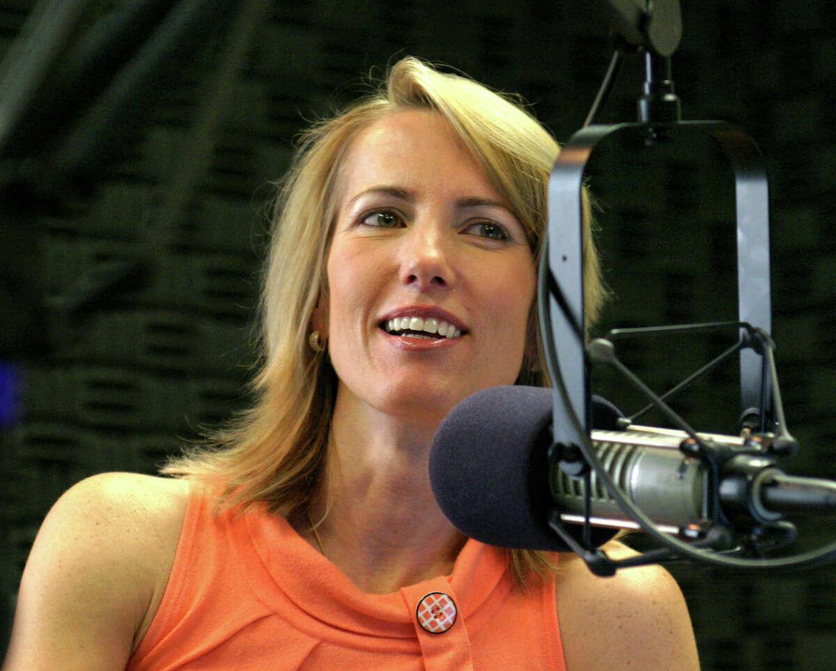 Laura Ingraham in the studio hosting her radio show in August 2004.