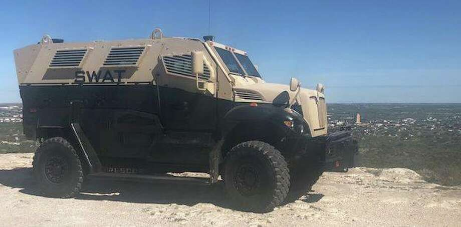 The Big Springs Police Department's Armored Emergency Response Vehicle recently obtained through the Law Enforcement Support Office program, also known as the 1033 program. Photo: Big Spring Police Department