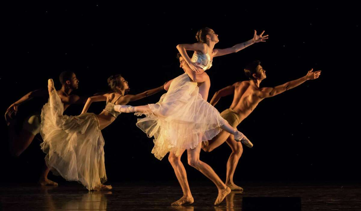 Dance as poetry Before Hurricane Harvey ruined its home stage at the Wortham Theater Center, Houston Ballet planned to open its season with six performances of