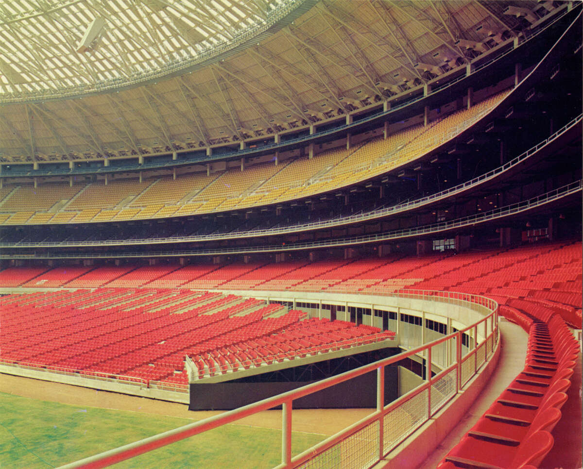 A vintage photograph from the University of Houston's Digital Library shows the Astrodome seats in 1965.