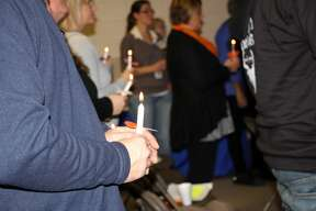 A crowd of more than 70 people packed inside the Wilcox Community Center in Bad Axe on Tuesday to celebrate the launch of the county's Families Against Narcotics chapter. The night featured a testimony from Mick Centofanti, of Atlanta, Georgia, about how he overcame his struggles with addiction. The event closed with a candlelight vigil to remember those who lost their lives to addiction.