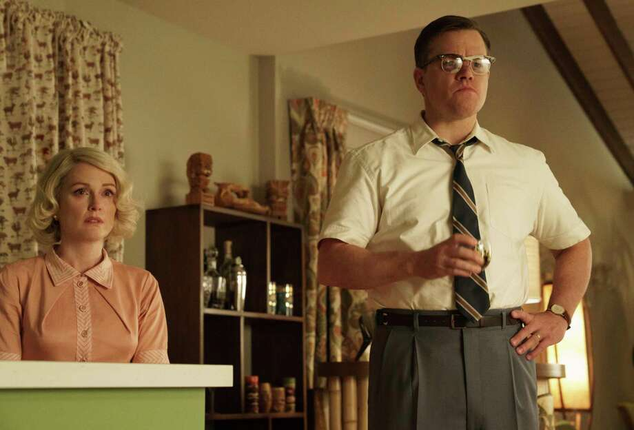 """Suburbicon""All seems quiet in a late-'50s suburb, but bad things are hidden below the surface. Matt Damon stars, George Clooney directs. (R) Photo: Hilary Bronwyn Gayle, HONS / © 2017 Paramount Pictures. All rights reserved."
