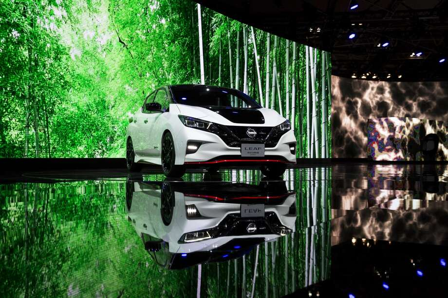 TOKYO, JAPAN - OCTOBER 25:  Nissan Motor Co.'s Leaf NISMO Concept vehicle is displayed during the Tokyo Motor Show at Tokyo Big Sight on October 25, 2017 in Tokyo, Japan. (Photo by Tomohiro Ohsumi/Getty Images) Photo: Tomohiro Ohsumi/Getty Images