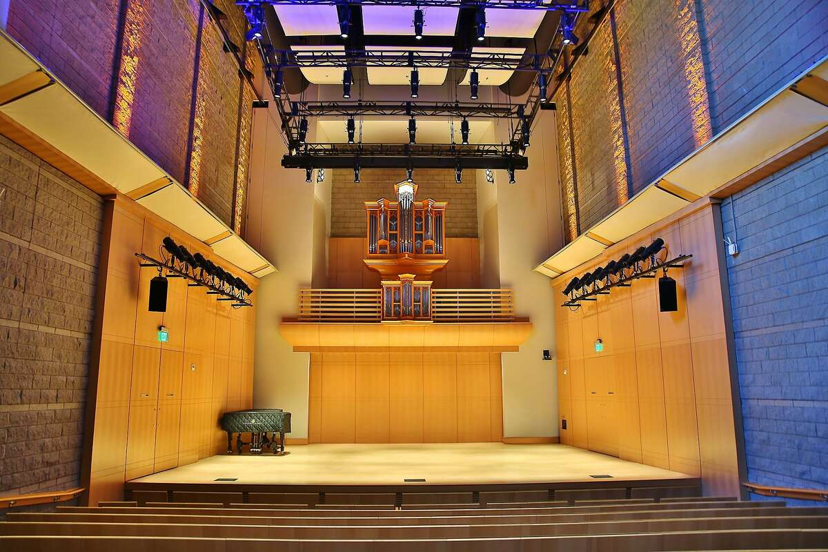 The interior of Schroeder Hall at the Green Music Center, Sonoma State University