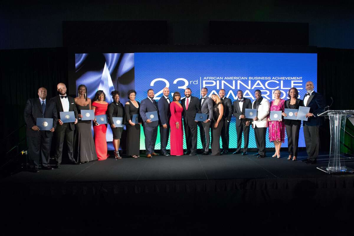 Finalists for the 23rd annual Pinnacle Awards pose for a photo. Courtesy of the Greater Houston Black Chamber.