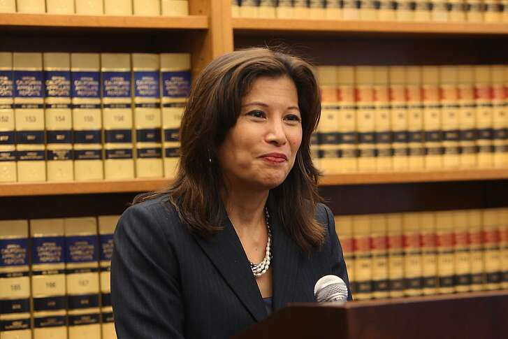 Appeals court Judge Tani Cantil-Sakauye was confirmed today as California's chief justice at a meeting of the Council on Judicial Appointments as she speaks at a press conference in San Francisco, Calif., on Wednesday, August 25, 2010.