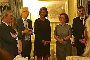 (From left) Nicola Luisotti, Lorenzo Ortona, Sheila Ortona, Romana Bracco and Paolo Barlera