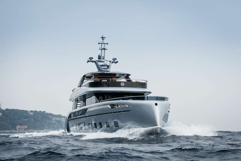 The Dynamiq GTT 115 Hybrid is a new superyacht designed in collaboration with Studio F.A. Porsche. Monaco-based Dynamiq will allow extensive customization for orders of the yacht, but will only build seven. Before customization, the yacht will start at a mere€12,500,000 (about $14.7 million U.S.). Photo: Courtesy Dynamiq