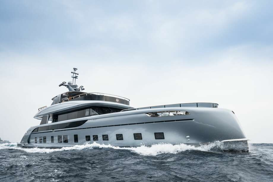 The Dynamiq GTT 115 Hybrid is a new superyacht designed in collaboration with Studio F.A. Porsche. Monaco-based Dynamiq will allow extensive customization for orders of the yacht, but will only build seven. Before customization, the yacht will start at a mere €12,500,000 (about $14.7 million U.S.). Photo: Courtesy Dynamiq