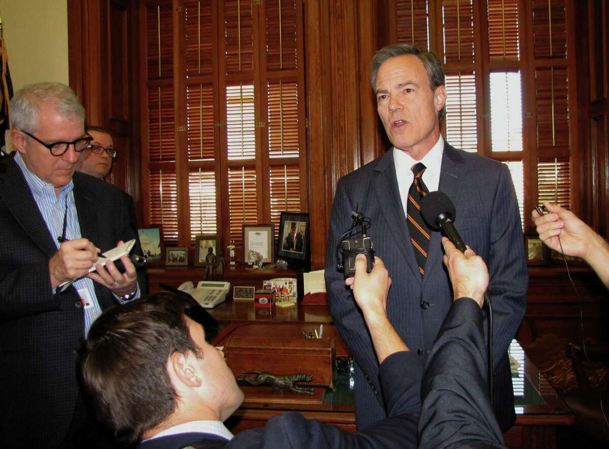 House speaker Joe Straus, talking with reporters in his office at the State Capitol, made a surprise announcement Wednesday morning that he's not coming back to the Texas House and does not plan to seek re-election to his current position.