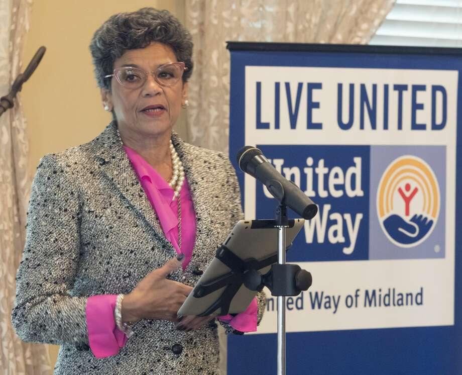 Sonia Manzano speaks 10/25/17 at the annual United Way of Midland's Power of the Purse luncheon. Tim Fischer/Reporter-Telegram Photo: Tim Fischer/Midland Reporter-Telegram