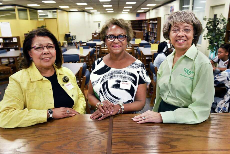 Albany District Links members, from left, Sandra Powell Agard, Linda Jackson-Chalmers and Nannette Ashe during a Believers + Achievers meeting at Albany High School Wednesday Sept. 20, 2017 in Albany, NY.  (John Carl D'Annibale / Times Union) Photo: John Carl D'Annibale / 20041592A