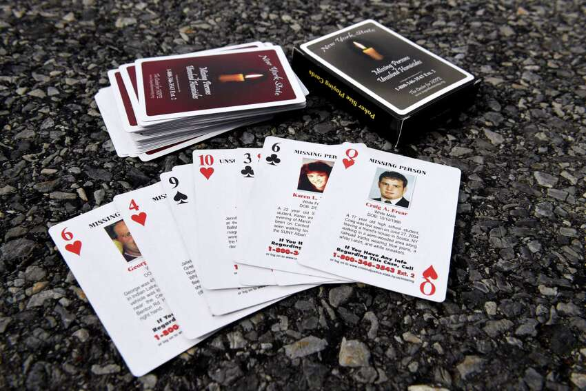 The Center for Hope's set of playing cards chronicles 52 missing persons and unsolved homicide cases in New York state. Keep clicking through to see the whole deck.