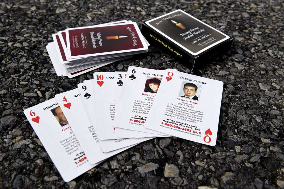 The Center for Hope's set of playing cards chronicles 52 missing persons and unsolved homicide cases in New York state. Keep clicking through to see the whole deck. Photo: Will Waldron, Albany Times Union