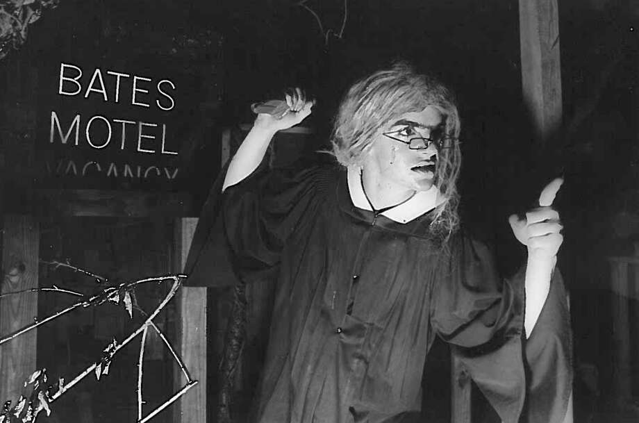 """The Bates Motel"" at The Haunted Hotel, 1987. Photo: Enterprise Archives Photo: Enterprise Archives"