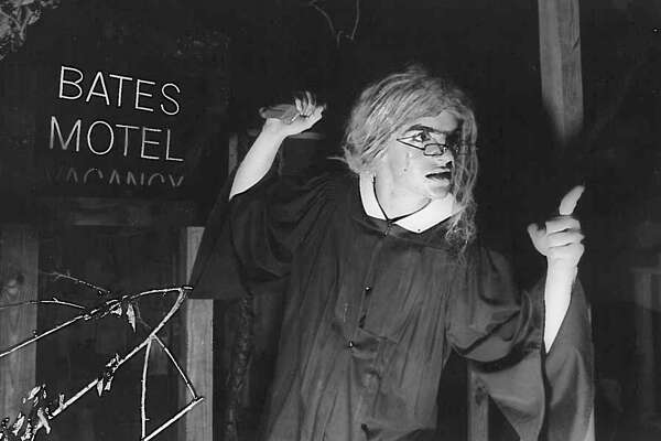 """The Bates Motel"" at The Haunted Hotel, 1987. Photo: Enterprise Archives"