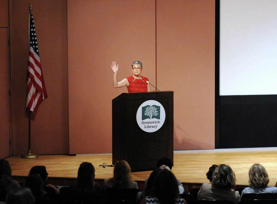 Greenwich Library has recently partnered with a number of women's business groups to host programming, including the newly launched Woman Owned Greenwich and the longtime Women's Business Development Council whose Chief Executive Officer, Fran Pastore, spoke during a council event kicking-off its Greenwich pilot program at Greenwich Library, Conn., Tuesday, Sept. 26, 2017. Photo: Bob Luckey Jr. / Hearst Connecticut Media / Greenwich Time