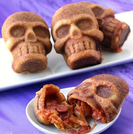 Stuffed Pizza Skulls from Beth Jackson Klosterboer of HungryHappenings.com. Photo: Courtesy Beth Jackson Klosterboer